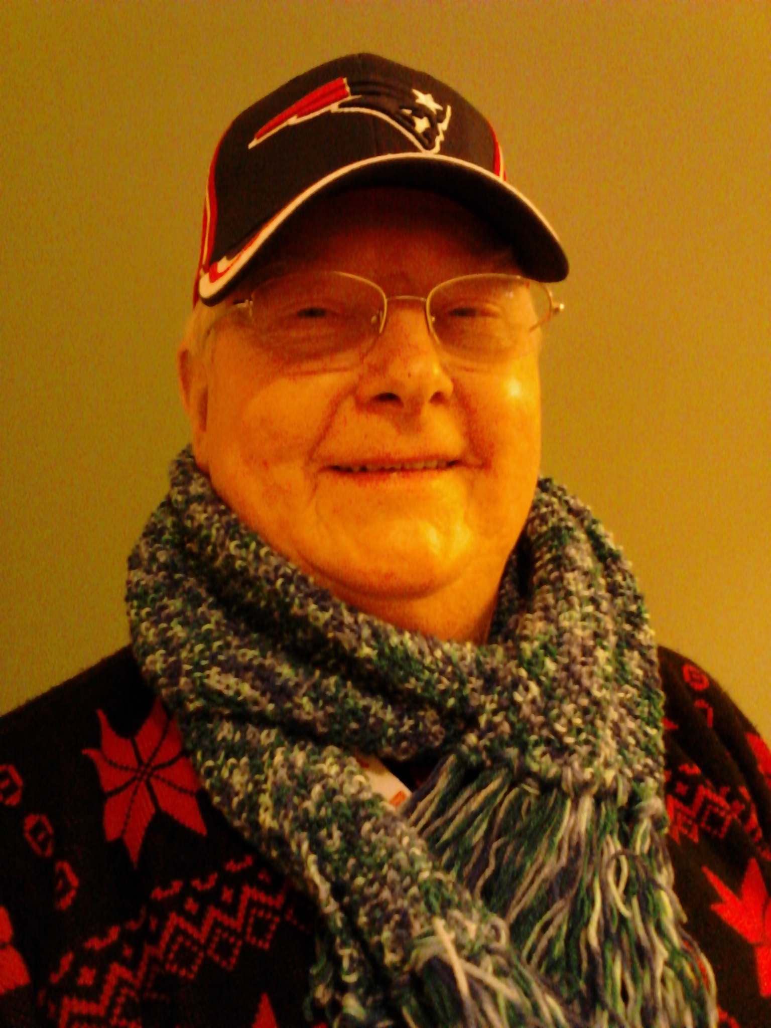 New hat and scarf, Christmas 2012