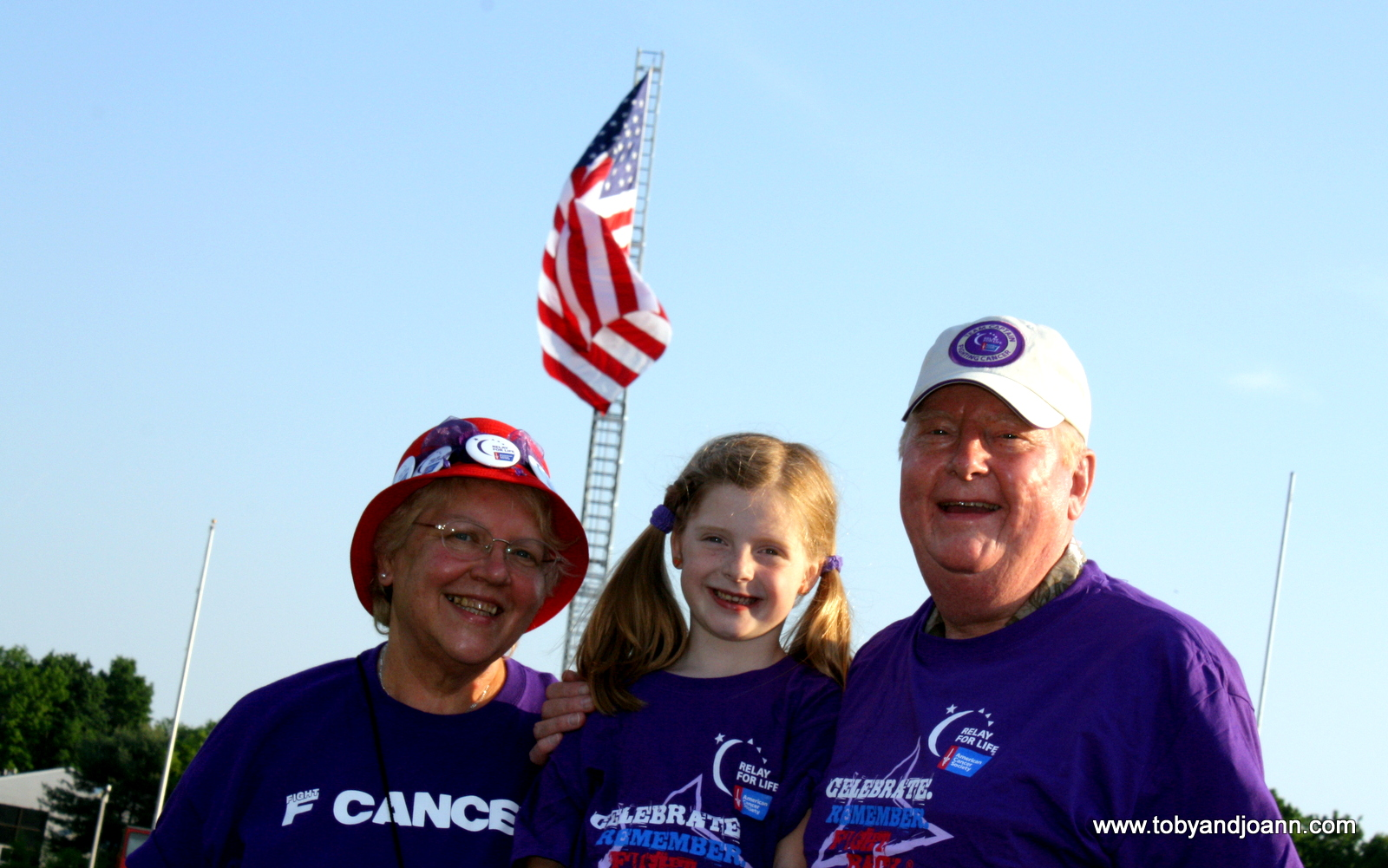 Meryl, Charlotte and Noel at ACS Relay for Life
