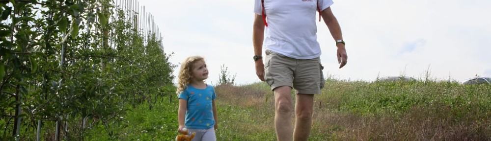 Poppa and Lucy Apple Picking