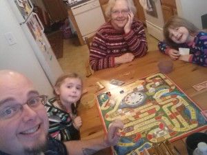 Playing games with the grandchildren