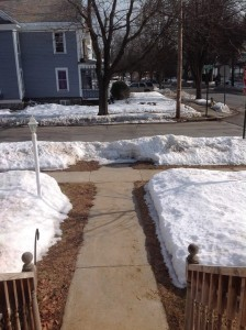 Snow Melt in Glens Falls