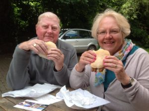 Eating Kipper Sandwiches in England